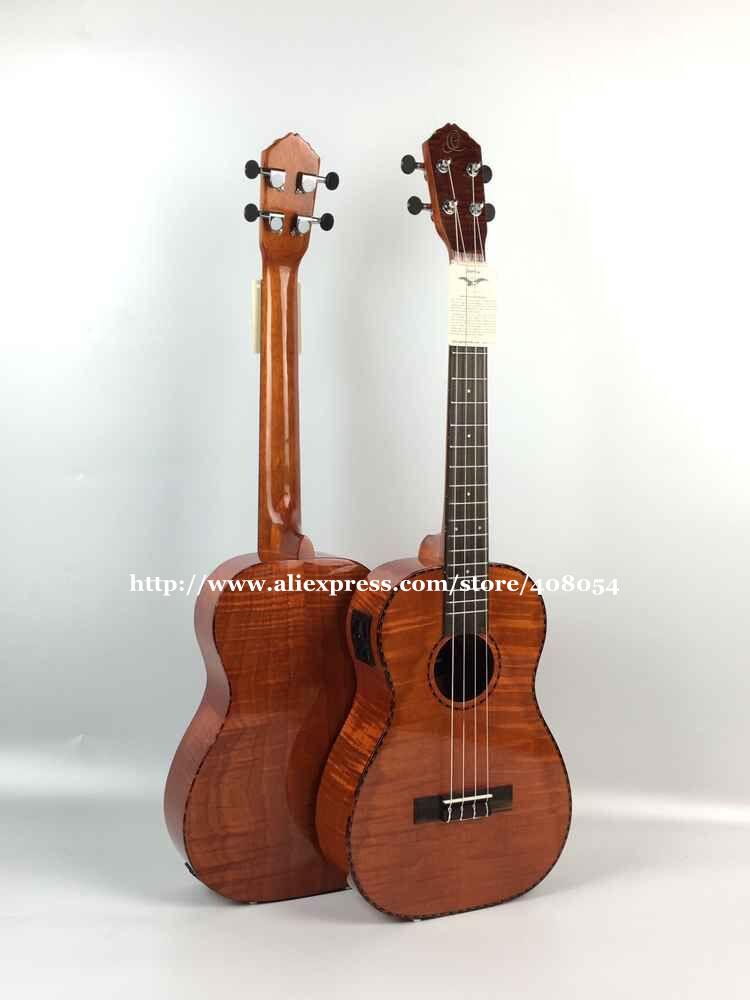 High end guitars,30 inch Full Flame maple Baritone Electric ukulele,Hawaii guitar,with 4 band LCD pickup,ukelele guitarra