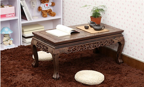 Asian Style Handmade Antique Tea Table RoseWood Rectangle 100cm