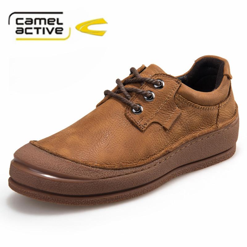 Здесь можно купить  Camel Active brand men casual shoes Genuine Leather 100% handmade  fashion shoes  Обувь