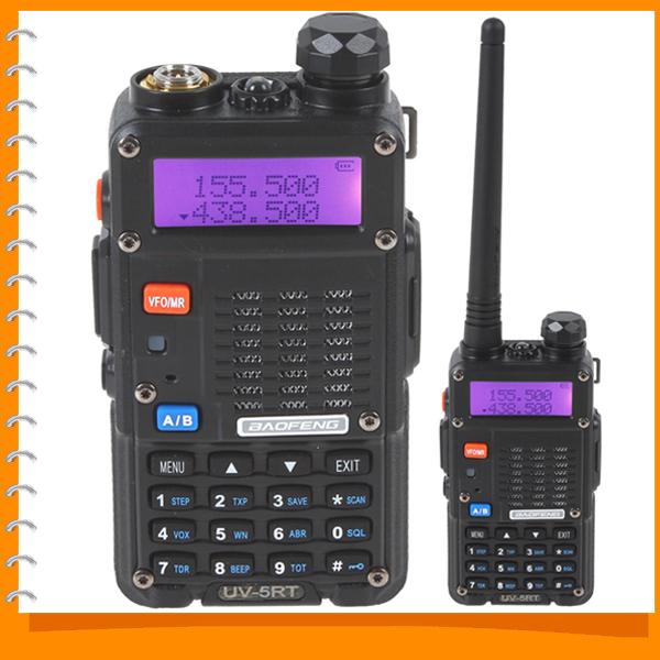 BAOFENG UV-5RT 128CH Walkie Talkie Two 2 Way Radio Dual Band VHF 136-174 / UHF 400-520MHz Portable Handheld Transceiver(China (Mainland))