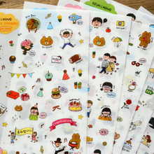 Buy 6 Sheets Cute Girl Sticker Post Kawaii Planner Sticky Stationery Material Escolar School Supplies Scrapbooking Diary Decor for $1.39 in AliExpress store