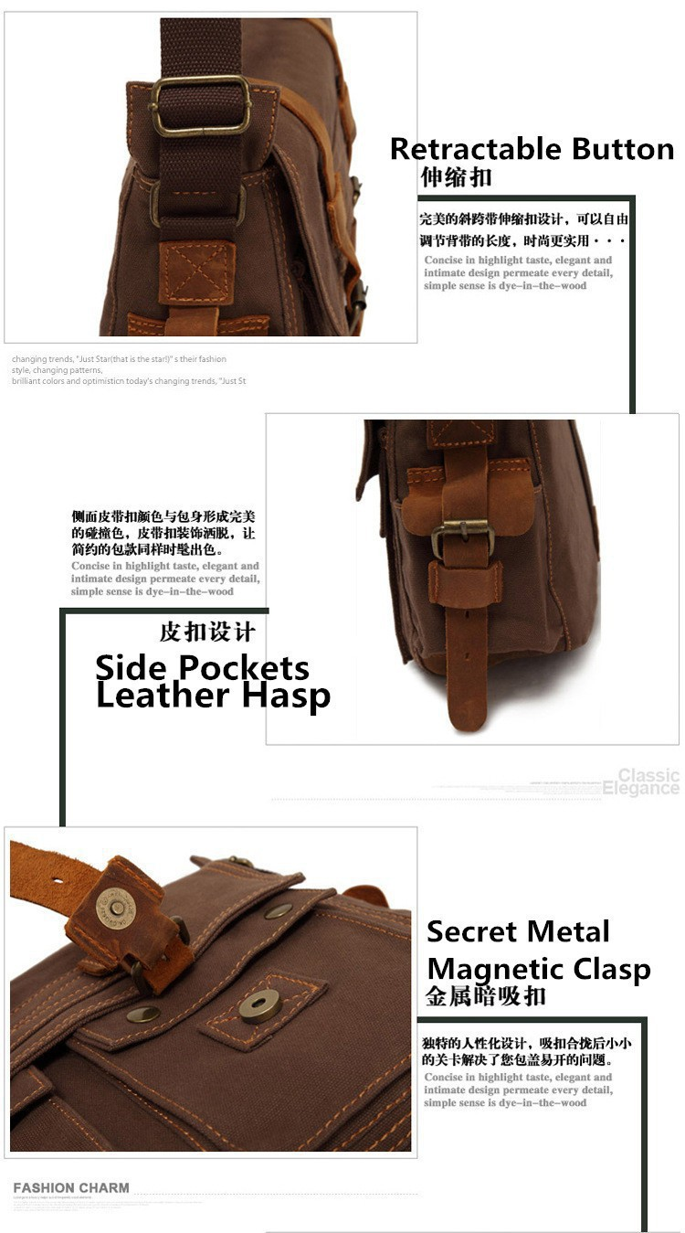 HOT Canvas Crossbody Bags For Women,I AM LEGEND Will Smith Military Vi