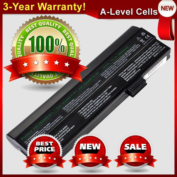 Extended Life 6.6Ah Laptop Battery For FUJITSU UNIWILL 255-3S6600-F1P1 255-3S4400-G1P3 255-3S4000-S1P3 255-3S4400-C1S1(China (Mainland))
