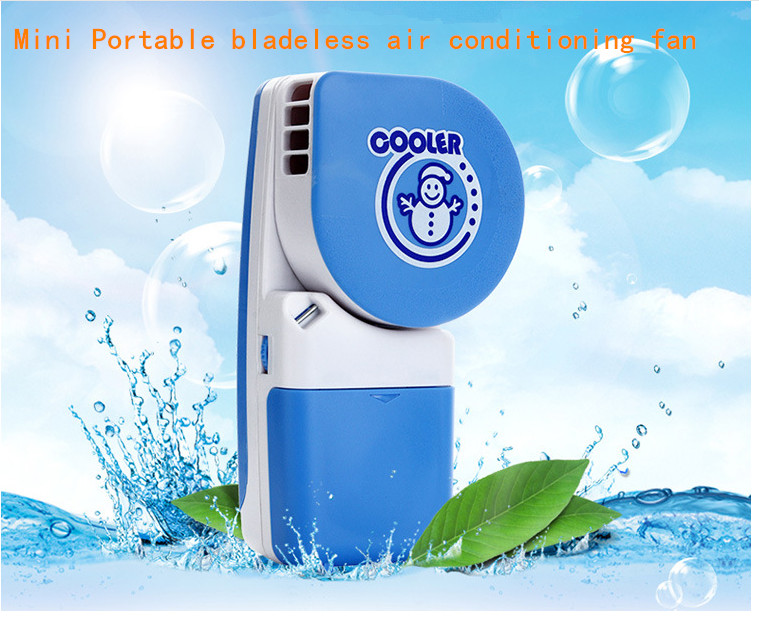 USB mini fan Cute air conditioning refrigeration student portable bladeless fan small charge(China (Mainland))