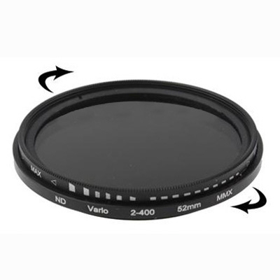 52mm Filter ND Fader Neutral Density Adjustable Variable Filter ND 2 to ND 400 Filter Free Shipping(China (Mainland))