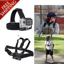 Buy GoPro Accessories Head Belt Strap Chest Harness Mount SJCAM SJ4000 SJ5000 M10 GoPro HD Hero 4 3+ 3 Xiao Mi Yi sport Camera for $5.99 in AliExpress store