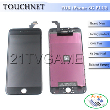 Free Shipping For iPhone Replacement Screens 6 plus LCD Pantallas Mobile Phone LCDs Full Assembly
