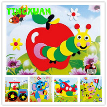 20 designs /lot DIY Cartoon Animal 3D EVA Foam Sticker Puzzle Series E Early Learning Education Toys for Children(China (Mainland))