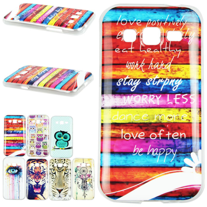 Hot Marketing New Fashion Pattern Design Silicone TPU Skin Case Cover For Samsung Galaxy G360 June11(China (Mainland))