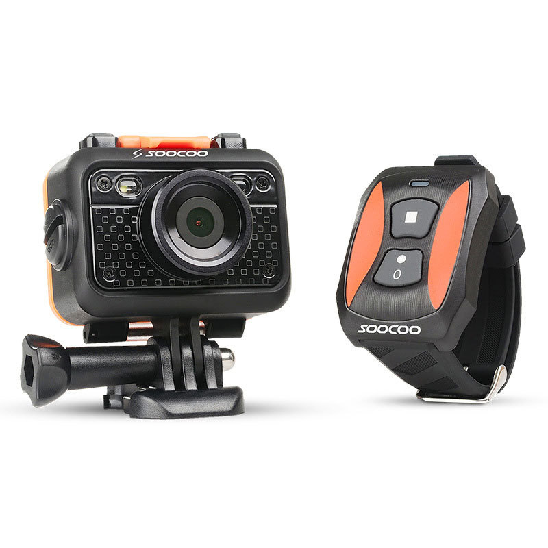 """1080P Sports Video Camera Mini Camcorder Waterproof 60m 170 Wide Angle 1.5 """" LCD 2.4G Wireless Remote Control Watch SOOCOO S60(China (Mainland))"""