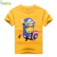 Baby Boys T-Shirt  Cartoon Children T shirts 100% Cotton Kid's Summer Wear Spring  Baby & Kids Band Captain America 1-14T BT013