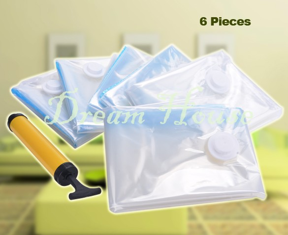 Hot Sale ! 2015 New 6x Jumbo Seal Vacuum Compression Bag Storage Organizer Space Saver Storage Bags 30(China (Mainland))