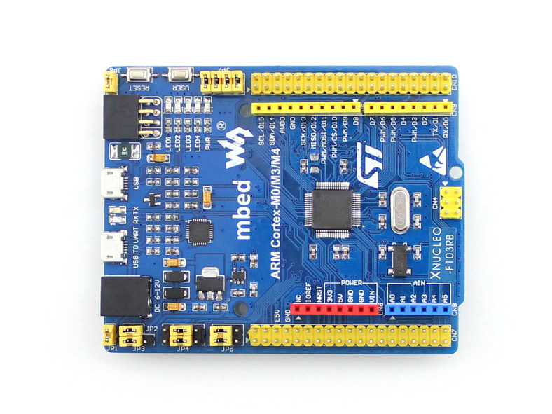 XNUCLEO-F103RB Pack A # STM32F103RBT6 STM32 Board + Shield + 14 Sensors Compatible with NUCLEO-F103RB Free Shipping<br>