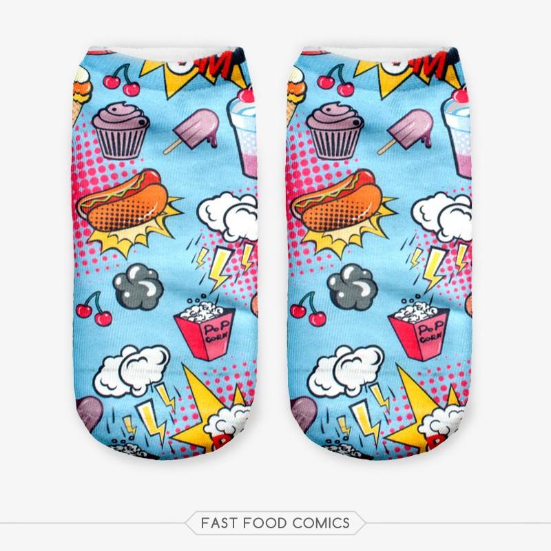 2016 3D Print Harajuku Cat Socks Unisex Cute Low Cut Ankle Socks Women Multi Colors Sock Women's Animal Shape Funny Socks PY237(China (Mainland))