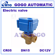 "Buy CWX-60P DN15 G1/2"" brass 6NM Torque T flow 3-way MINI Electric valve for water Ttreatment DC12V, CR05 5 wires Micro controller for $22.60 in AliExpress store"