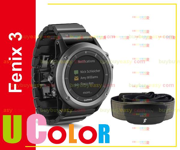 Genuine New Garmin Fenix 3 GPS Watch with HRM-Run Sapphire & Metal Band(Hong Kong)
