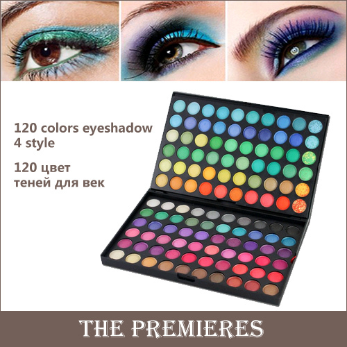 120 Color Fashion Eye shadow palette Cosmetics Mineral Make Up Makeup Eye Shadow Palette eyeshadow set for women 4 Style Color(China (Mainland))