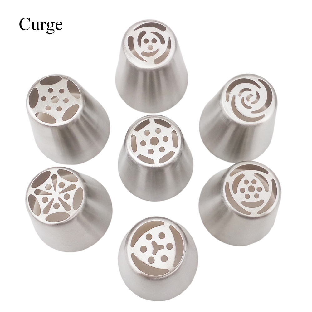 7PCS/Lot Russian Tulip Stainless Steel Icing Piping Nozzles Tips Nozzle Pastry Tools Fondant Cake Decorating Tools Cake Mold(China (Mainland))