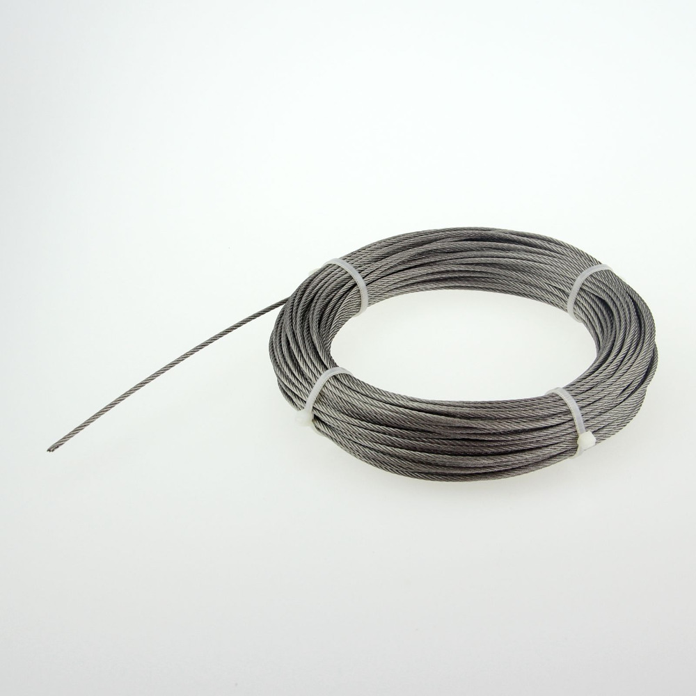 free shipping Stainless steel wire rope 7 * 7 rope Diameter:1.0mm Roll 50M(China (Mainland))