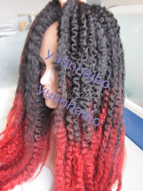 New ombre Cinnamon red marley braid hair 100% kanekalon