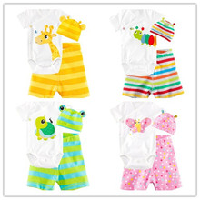 Baby boy New 2015 baby boy clothes cotton children baby girl clothes 3 pcs Long sleeved