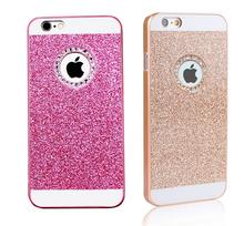 Glitter case for apple iphone 6 4.7 luxury waterproof phone mobile accessories pink Diamond cases i by PC flash powder Acrylic
