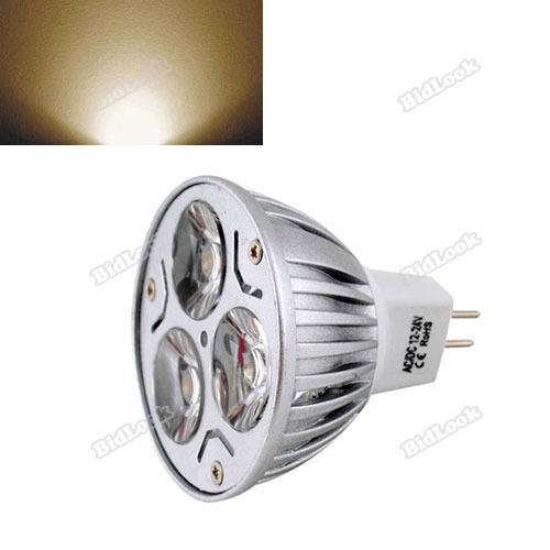tradebus Salable! New 6W Ultra Bright MR16 LED Dimmable Spot Light Downlight Lamp Bulb Warm White[60 degrees] [perfectly](China (Mainland))