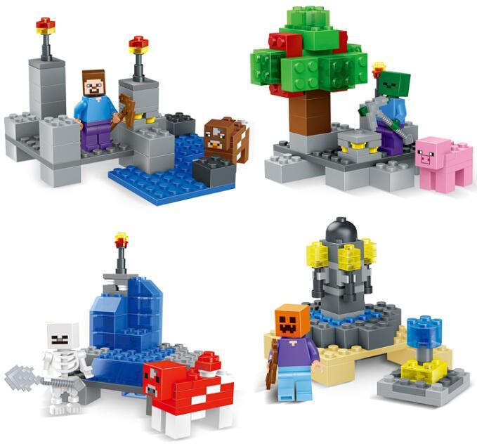192pcs/lot Building Blocks figures Minifigures 4 models<br><br>Aliexpress
