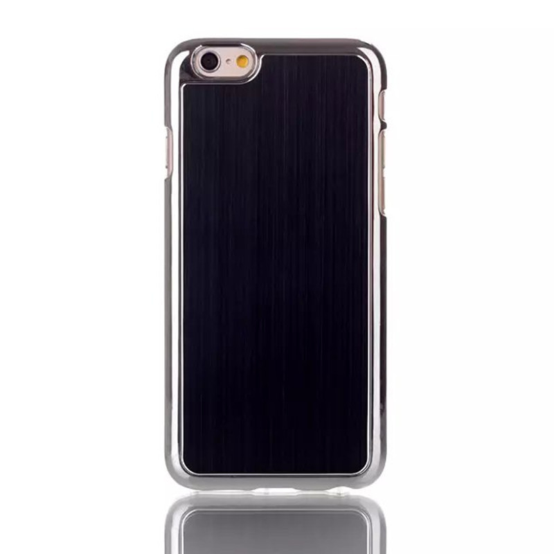 6G Luxury Brushed Metal Aluminum + Pc Hard Case frame For Apple iphone 6 4.7inch metal Protective back Cover(China (Mainland))