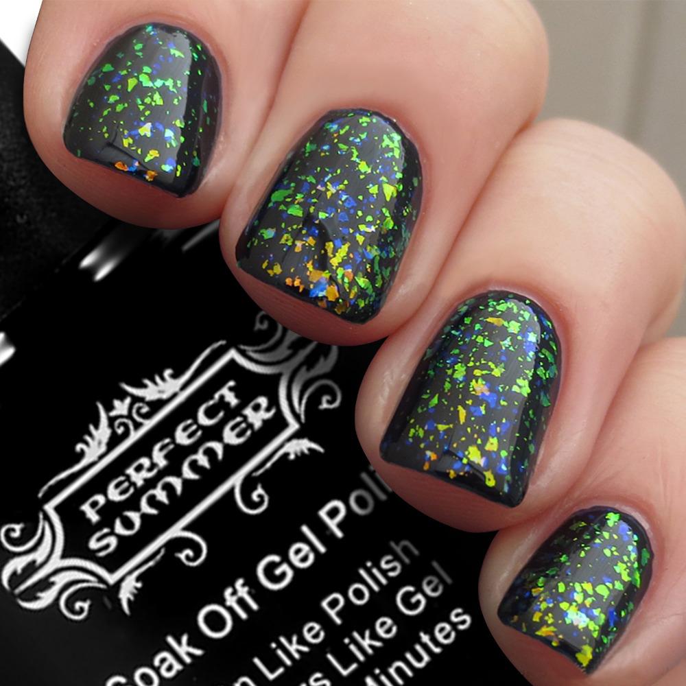 Perfect Summer Chameleon gel nail polish Long-lasting Soak off led uv gel lacquer 2 piece /lot Black Base gel +Chameleon gel(China (Mainland))