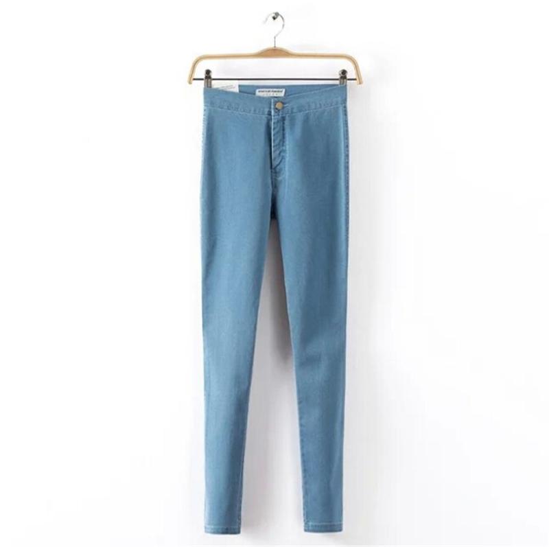 2015 джинсы женщина свободного покроя стрейч джинсы карандаш брюки высокой талией упругие джинсовые брюки женские узкие джинсы весна / осень