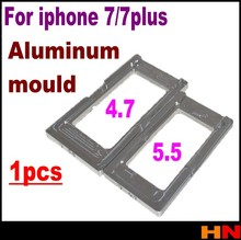 1pcs Glass screen mold mould for iphone 7 7 plus Aluminum screen positioning fixture repair tools parts(China (Mainland))