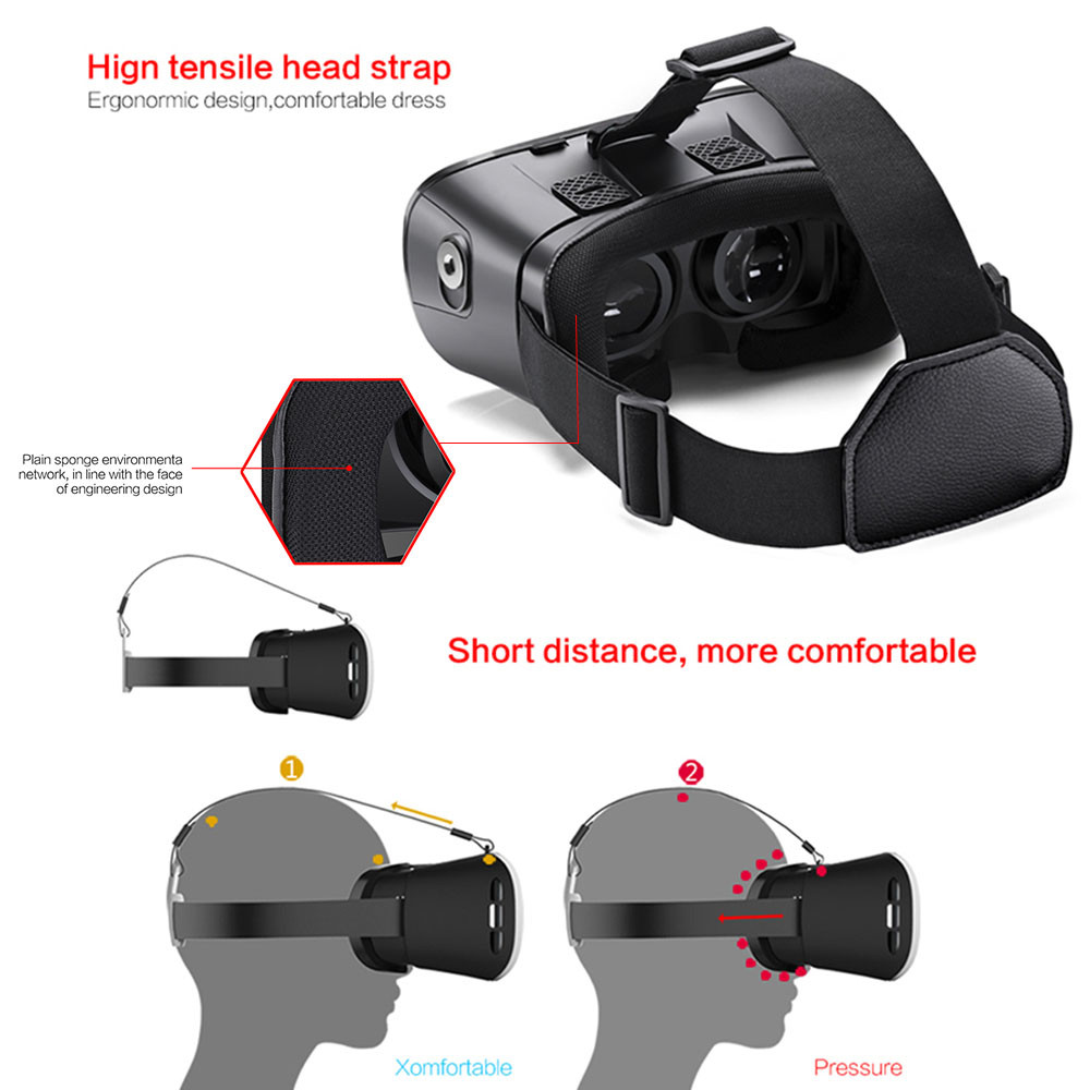 F17761/62 3D VR Glasses DeePoon V3 Real Virtual Reality Headset Helmet 3D VR Gaming Video Bluetooth Gamepad for Android iOS APP
