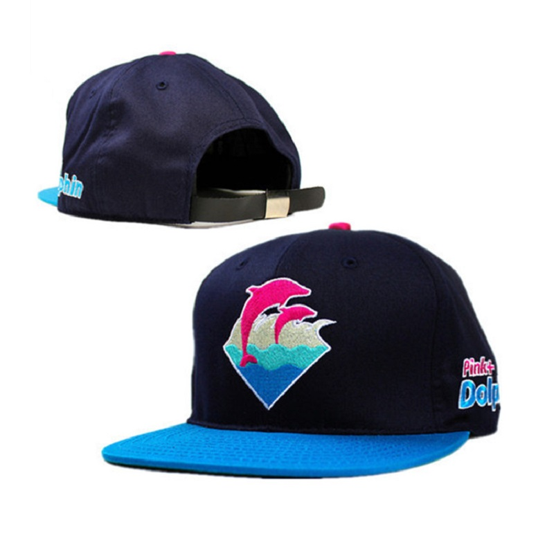 New 2016 summer pink dolphin brand baseball caps strapback leopard Pink Dolphin Waves Sport Snapback Hats For Man and Women(China (Mainland))
