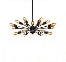 Vintage Metal Large Chandelier With 18 Lights Painted Finish(China (Mainland))