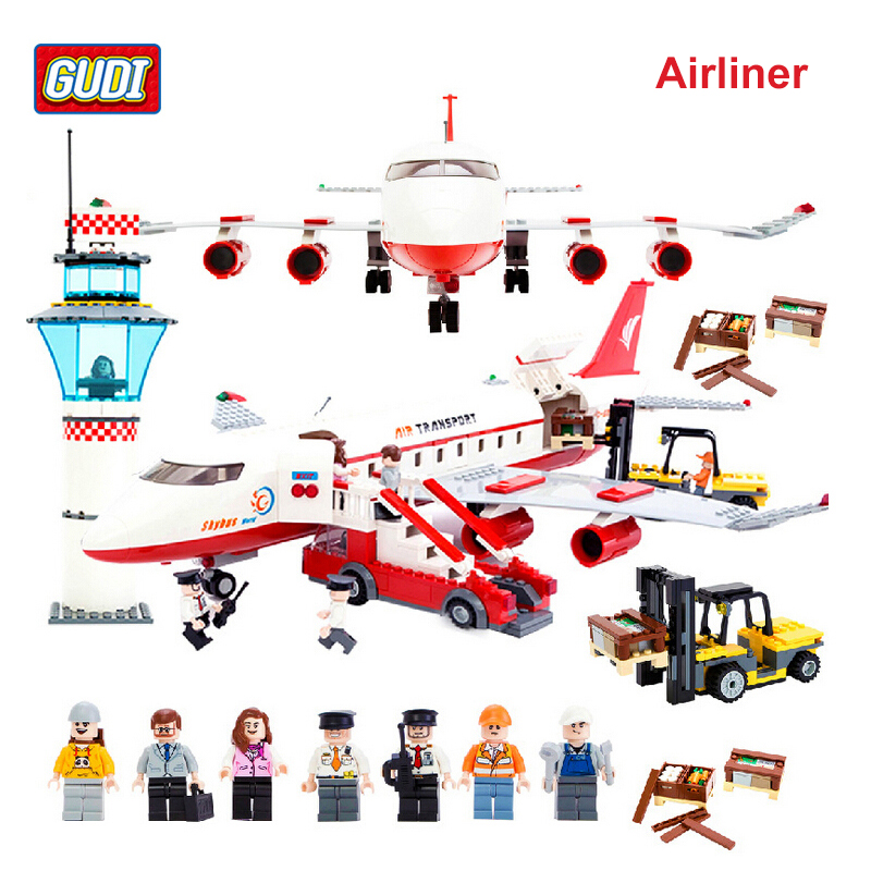 GUDI Aviation Series Airliner Building Blocks Compatible with Lego Designer Airplane Education Building BlocksToys for Boys 8913(China (Mainland))