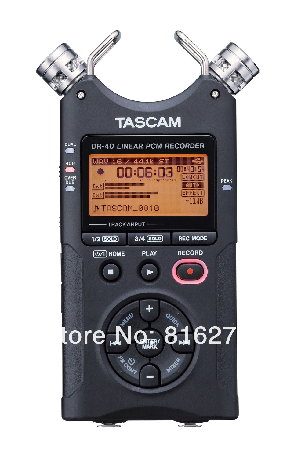Hot selling Tascam dr-40 handheld digital voice recorder professional recording pen original brand Wholesale Promotions Fine(China (Mainland))
