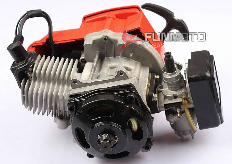 49cc engine with plastic pull stater of mini dirt bike for kids moto brand name KXD