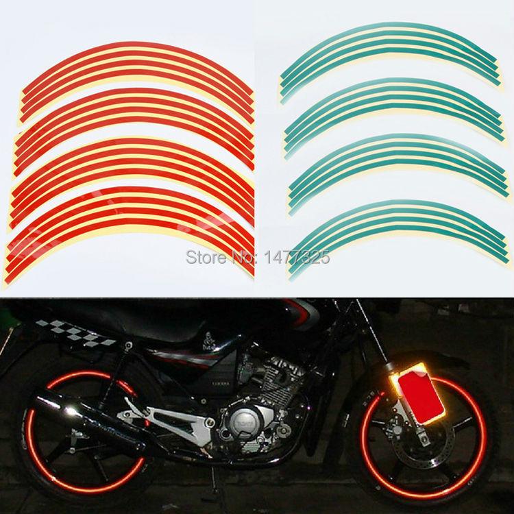 Useful Hot Polyethylene Terephthalate Wheel Sticker Reflective Rim Stripe Tape Bike Motorcycle Car(China (Mainland))