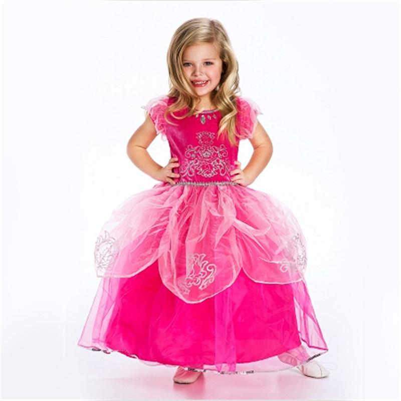Vestidos Cinderella girls wedding dress kids clothes baby girls princess dress little girls costume party dress tutu dress red(China (Mainland))