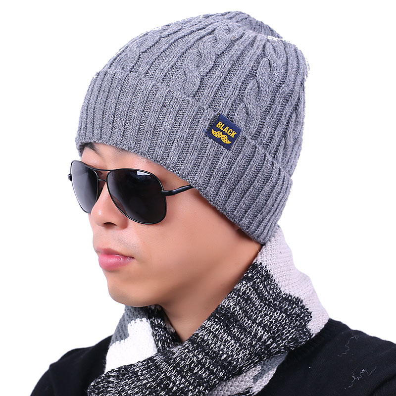 2016 New Adult Skullies Bonnet Winter Hat For Men Wool Knitted Hats Beanies Cap Brand Beanie Fur Warm Baggy Thick Male Caps(China (Mainland))
