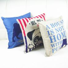 Lovely Cartoon Dog Linen Pillow Case
