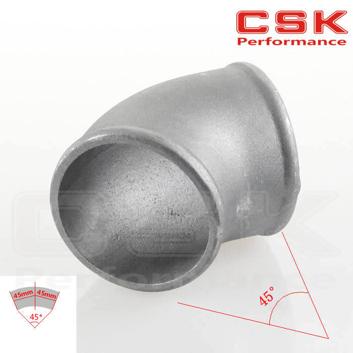 """Pipe Joiner 63mm 2.5"""" Cast Aluminum 45 Degree Elbow Pipe Turbo Intercooler pipe(China (Mainland))"""