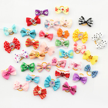 Armi store 20 Pcs Handmade Pet Grooming Accessories Products Dog Bow 6011026 Hair Little Flower Bows For Dogs Charms Gift(China (Mainland))