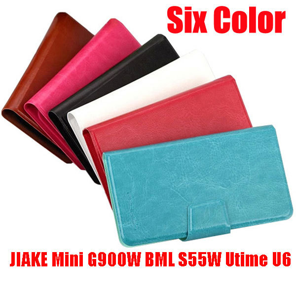 Luxury wallet bag PU Leather Flip Stand Universal Case cover for JIAKE Mini G900W BML S55W Utime U6 case freeshipping AM1(China (Mainland))