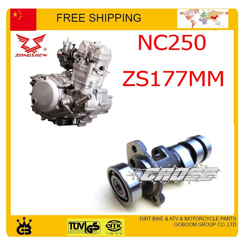 ZONGSHEN NC250 250CC cam shaft camshaft main gear xmotos kayo bse dirt pit bike accessories free shipping