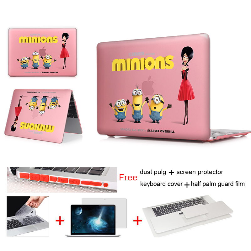 Minions Scarlet Overkill Notebook Case Bags For Apple Macbook Air 11 Case Matte Hard Crystal For Macbook Case For Mac Air Case(China (Mainland))