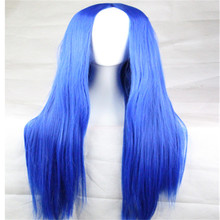 hot 75cm long wig carve women straight party wigs cheap synthetic wigs blonde Red Black Brown