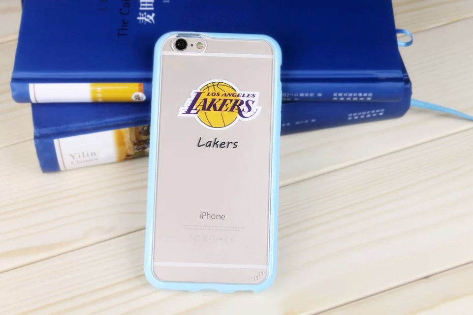 2015 new basketball team transparent silicone cute design case for iPhone 6/6plus free shopping(China (Mainland))