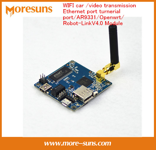 Fast Free Ship Robot Car WIFI car video transmission Ethernet port turnerial port AR9331 Openwrt Robot